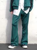"""【2020SS】 my beautiful landlet (マイビューティフルランドレット)  """"remake jersey pants"""" <ジャージパンツ> - GREEN"""