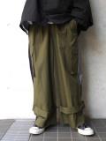 """【2020SS】 my beautiful landlet (マイビューティフルランドレット)  """"ripstop wide cargo pants"""" <パンツ> - OLIVE"""