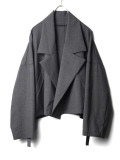"【2020SS】 my beautiful landlet (マイビューティフルランドレット)  ""worsted wool wide short blouson"" <ショートコート> - GRAY"