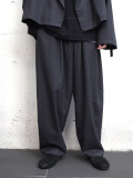 "【2020SS】 my beautiful landlet (マイビューティフルランドレット)  ""worsted wide easy pants"" <スラックス> - CHARCOAL"