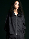 "【2020SS】 my beautiful landlet (マイビューティフルランドレット)  ""typewriter hi-neck zip blouson"" <ジップブルゾン> - BLACK"