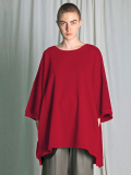 "【18AW】 my beautiful landlet (マイビューティフルランドレット)  ""mini fleecy BIG T-shirt"" <スウェット/Tシャツ/カットソー> - RED"