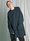 "【18AW】 my beautiful landlet (マイビューティフルランドレット)  ""mini fleecy BIG L/S tee"" <スウェット/カットソー> - DARK GREEN"