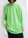 "【18AW】 my beautiful landlet (マイビューティフルランドレット)  ""mini fleecy BIG L/S tee"" <スウェット/カットソー> - LIGHT GREEN"