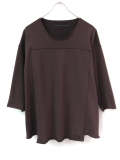 "【18AW】 my beautiful landlet (マイビューティフルランドレット)  ""fleecy knitting 3/4 sweat"" <スウェット/カットソー> - CHOCOLATE"