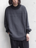 "【18AW】 my beautiful landlet (マイビューティフルランドレット)  ""fleecy switching sweat"" <スウェット> - CHARCOAL GRAY"