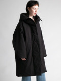 "【19AW】 my beautiful landlet (マイビューティフルランドレット)  ""horse cloth down hooded coat"" <ダウンコート> - BLACK"