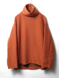 "【19AW】 my beautiful landlet (マイビューティフルランドレット)  ""blending knit high necked"" <ニット> - ORANGE"
