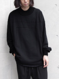 "【19AW】my beautiful landlet (マイビューティフルランドレット)  ""fleecy switching sweat"" <スウェット> - BLACK"