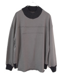 "【19AW】my beautiful landlet (マイビューティフルランドレット)  ""fleecy switching sweat"" <スウェット> - GRAY"