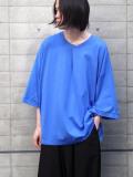 "【20AW】 my beautiful landlet (マイビューティフルランドレット)  ""cotton BIG T-shirt"" <カットソー> - BLUE"