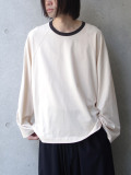 "【20AW】 my beautiful landlet (マイビューティフルランドレット)  ""cotton ringer L/S tee"" <カットソー> - KINARI"