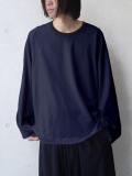 "【20AW】 my beautiful landlet (マイビューティフルランドレット)  ""cotton ringer L/S tee"" <カットソー> - CHARCOAL"