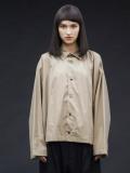 "【20AW】 my beautiful landlet (マイビューティフルランドレット)  ""80/2 highcount typewriter shirt"" <シャツ> - BEIGE"