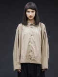 "【20AW】 my beautiful landlet (マイビューティフルランドレット)  ""80/2 highcount typewriter shirt"" <シャツ> - BEIGE"