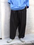 """【20SUMMER】 my beautiful landlet (マイビューティフルランドレット)  """"cotton nylon wide easy pants"""" <パンツ> - BLACK"""