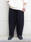 """【20SUMMER】 my beautiful landlet (マイビューティフルランドレット)  """"cotton nylon wide easy pants"""" <パンツ> - NAVY"""