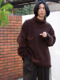 "【20AW】 my beautiful landlet (マイビューティフルランドレット)  ""SHEEP PILE HIGH NECKED"" <スウェット> - BROWN"