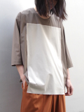 "【19SS】 my beautiful landlet (マイビューティフルランドレット)  ""3/4 sleeve Pullover shirts"" <プルオーバーシャツ> - BEIGE"