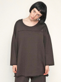 "【19SS】 my beautiful landlet (マイビューティフルランドレット)  ""supima cotton 3/4 sweat"" <スウェット/カットソー> - BROWN"