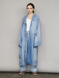"【21SS】 my beautiful landlet (マイビューティフルランドレット)  ""8oz DENIM LONG COAT"" <デニムコート> - BLUE"