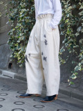 "【21SS】 my beautiful landlet (マイビューティフルランドレット)  ""8oz DENIM WIDE EASY PANTS"" <デニムイージーパンツ> - KINARI"