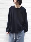 """【21SS】 my beautiful landlet (マイビューティフルランドレット)  """"BASIC CUT AND SEW RINGER L/S TEE"""" <カットソー Tシャツ> - BLACK"""