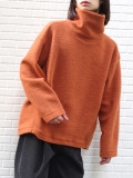 "【19AW】 my beautiful landlet (マイビューティフルランドレット)  ""blending knit high necked"" <ニット> - ORANGE"