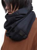 """PATRICK STEPHAN (パトリックステファン) """"Jersey scarf 'tape'"""" #192ASF01  <ネックウォーマー/スヌード> - BLACK"""