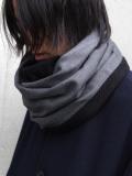 """PATRICK STEPHAN (パトリックステファン) """"Jersey scarf 'tape'"""" #192ASF02  <ネックウォーマー/スヌード> - GRAY"""