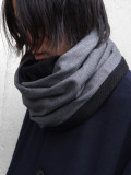 "【19AW】 PATRICK STEPHAN (パトリックステファン) ""Jersey scarf 'tape'"" #192ASF02  <ネックウォーマー/スヌード> - GRAY"