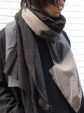 "【19AW】 PATRICK STEPHAN (パトリックステファン) ""Jersey scarf 'wrap'""  #192ASF03  <ストール/マフラー> - GRAY MIX"