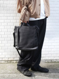 "PATRICK STEPHAN (パトリックステファン) ""Leather shoulder bag 'grande poche' KS"" #193ABG04 <ショルダーバッグ ハンドバッグ>"