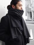"PATRICK STEPHAN (パトリックステファン) ""Jersey scarf 'wrap'""  #182ASF21  <ストール/マフラー> - BLACK MIX"