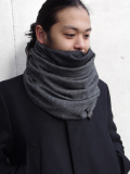 """PATRICK STEPHAN (パトリックステファン) """"Jersey scarf 'fuji'"""" #182ASF19  <ネックウォーマー/スヌード> - GRAY MIX"""