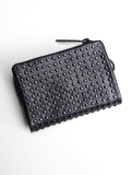 PATRICK STEPHAN (パトリックステファン) Leather micro wallet 'all-studs' - DAL STUDS #106AWA07  <レザーウォレット/二つ折り財布>