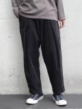 "【20AW】 ■RELAXFIT (リラックスフィット) ""WRAP EASY CORDUROY PANTS"" <イージーパンツ> - BLACK"