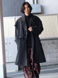 "【2020AW】 Sasquatchfabrix. (サスクワァッチファブリックス) ""POWER SHOULDER TRENCH COAT"" <コート>"
