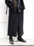 """【2020AW】 Sasquatchfabrix. (サスクワァッチファブリックス) """"HAKAMA PANTS"""" <パンツ> - BLACK"""