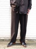 "【2020AW】 Sasquatchfabrix. (サスクワァッチファブリックス) ""TAPERED WIDE PANTS"" <パンツ> - DARK BROWN"