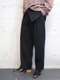 """【2020AW】 Sasquatchfabrix. (サスクワァッチファブリックス) """"TAPERED WIDE PANTS"""" <パンツ> - BLACK"""