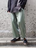 """【2021SS】 Sasquatchfabrix. (サスクワァッチファブリックス) """"FAKE LEATHER EASY PANTS"""" <パンツ> - BLUE GREEN"""