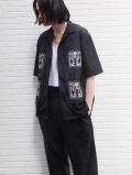 "【2021SS】 Sasquatchfabrix. (サスクワァッチファブリックス) """"KIRIGAMI"" H/S SHIRT"" <シャツ> - BLACK"
