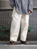 "【2021SS】 SHINYAKOZUKA (シンヤコヅカ) ""TAPERED BAGGY"" <パンツ> - IVORY"