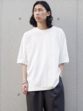 """【2021SS】 SHINYAKOZUKA (シンヤコヅカ) """"DOLMAN WITH FRUIT OF THE LOOM"""" <Tシャツ カットソー> - WHITE"""