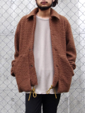 """【18AW】 SOE (ソーイ)  """"Poodle Jacket with Parachute Cord"""" <ジャケット/ブルゾン> - BROWN"""