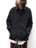 """【18AW】 SOE (ソーイ)  """"Poodle Jacket with Parachute Cord"""" <ジャケット/ブルゾン> - BLACK"""