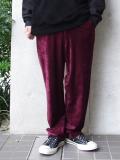 """【18AW】 SOE (ソーイ)  """"Tapered Velvet Trousers"""" <ベルベットスラックス> - BURGUNDY"""