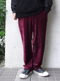 "【SALE】 SOE (ソーイ)  ""Tapered Velvet Trousers"" <ベルベットスラックス> - BURGUNDY"