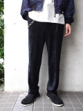 "【18AW】 SOE (ソーイ)  ""Tapered Velvet Trousers"" <ベルベットスラックス> - BLACK"